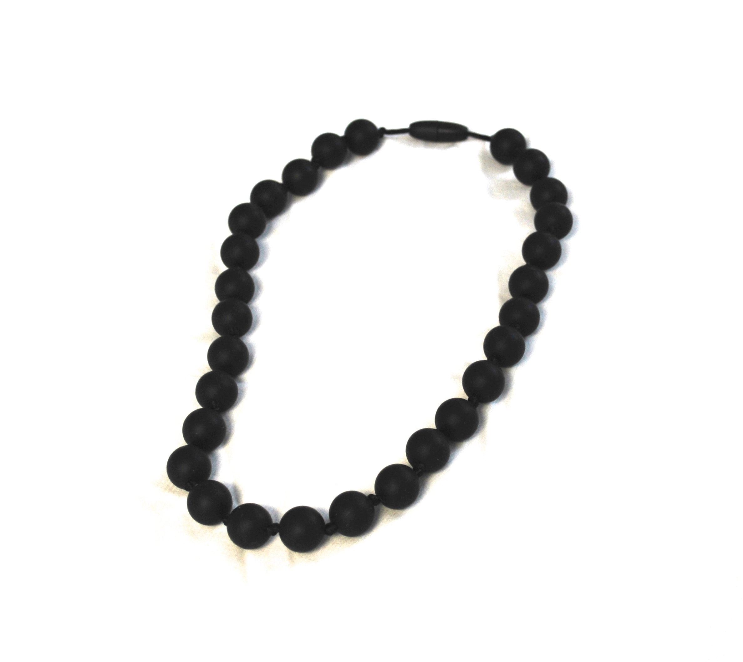 Black Bead Chew Necklace