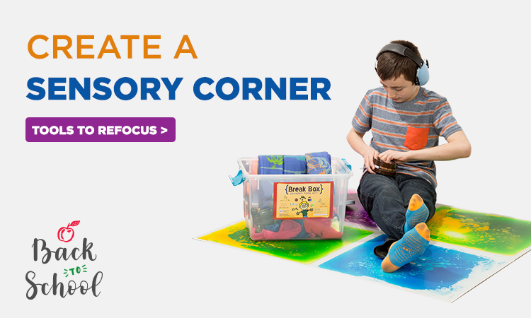 back to school sensory corner