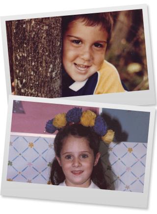 Aviva and Haskel as children