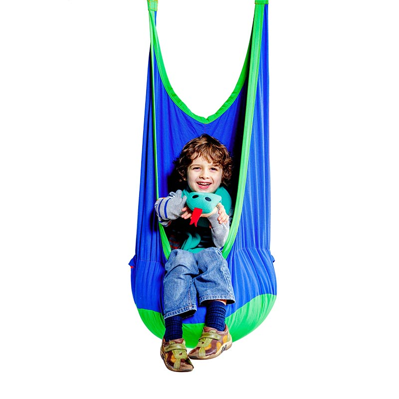 Winter Exercise for Sensory Seekers - Cocoon Climbing Swing