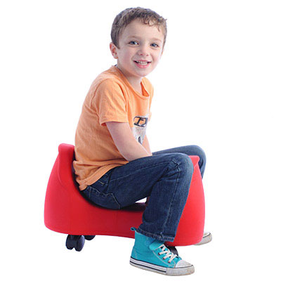 Winter Exercise for Sensory Seekers - Saddle Scooter