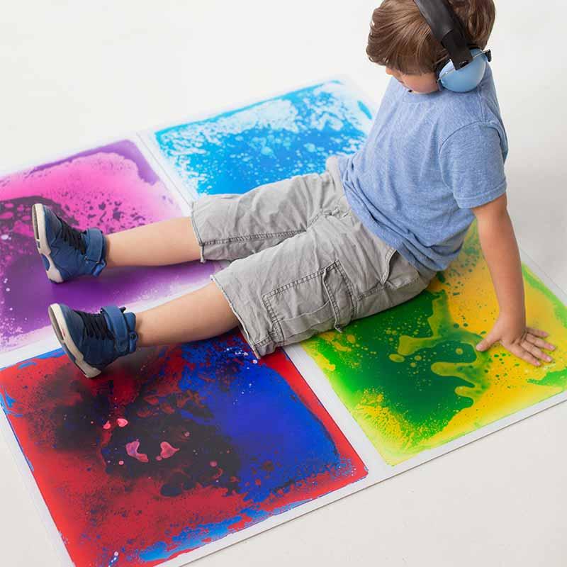 Winter Exercise for Sensory Seekers - Gel Floor Tiles