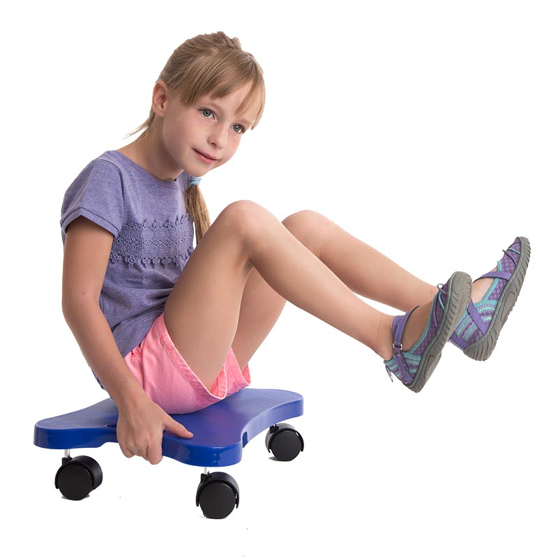 Winter Exercise for Sensory Seekers - Scooter with Handles