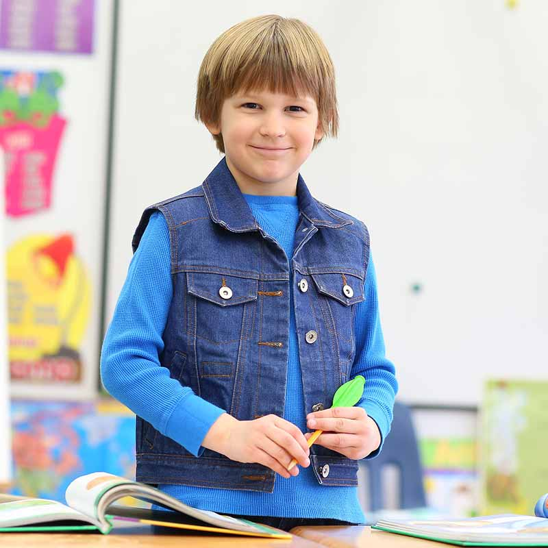 Solutions for 7 types of Sensory Needs - Denim Weighted Vest