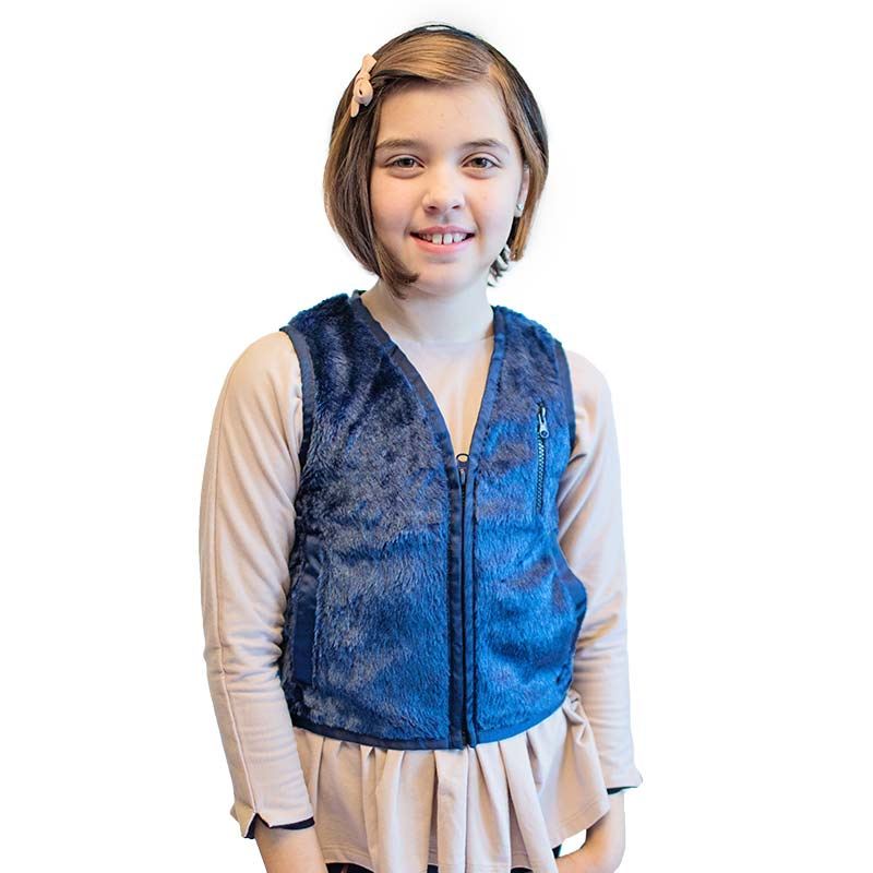 Sensory Solutions for Teens and Adults - Weighted Faux Fur Vest
